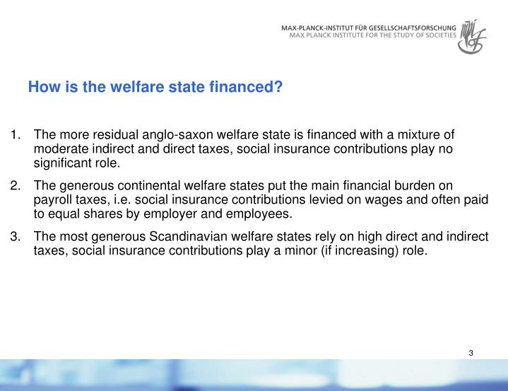 How is the welfare state financed