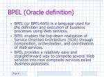 bpel oracle definition