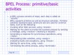 bpel process primitive basic activities