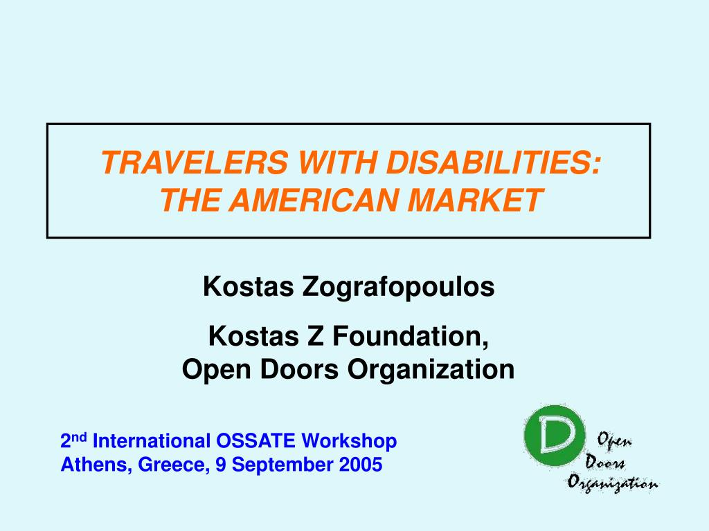 travelers with disabilities the american market l.