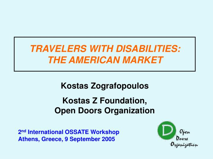 Travelers with disabilities the american market