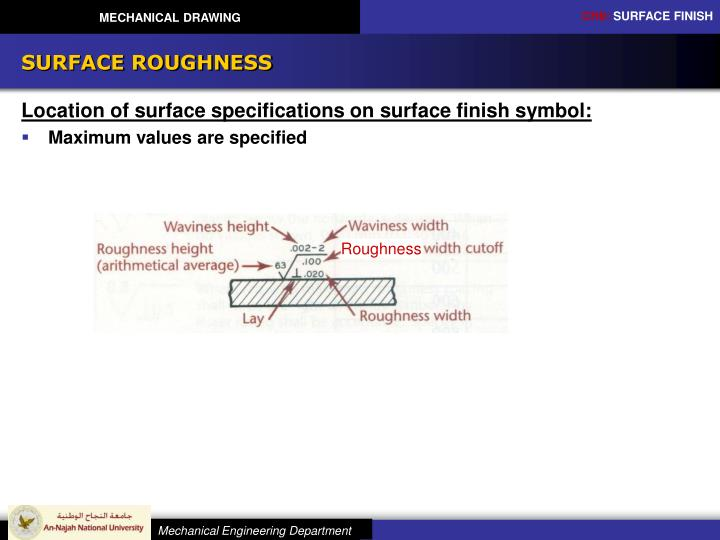 Ppt Mechanical Drawing Chapter 9 Surface Finish Powerpoint