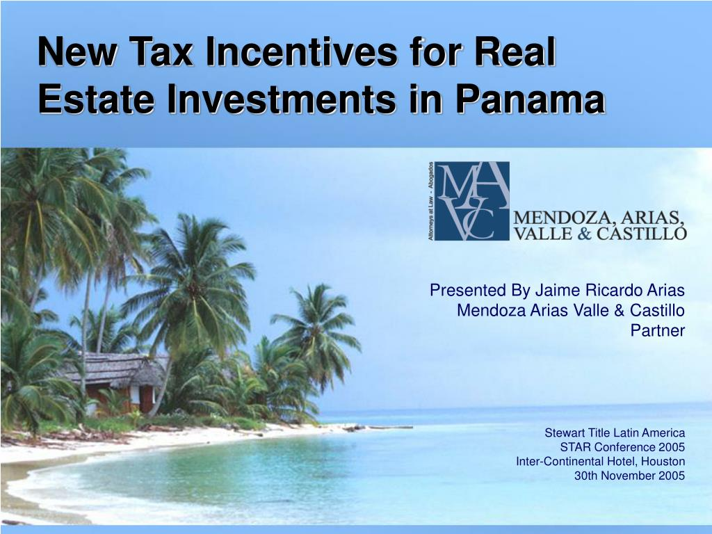 new tax incentives for real estate investments in panama l.