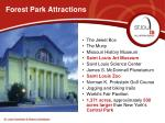 forest park attractions