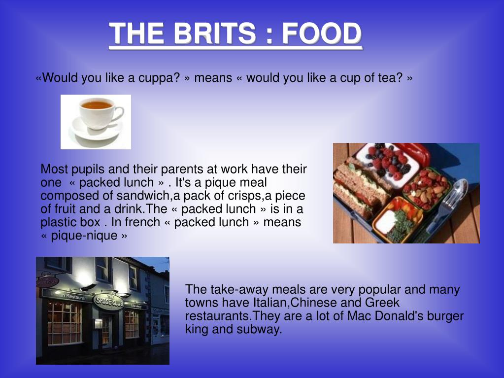 THE BRITS : FOOD