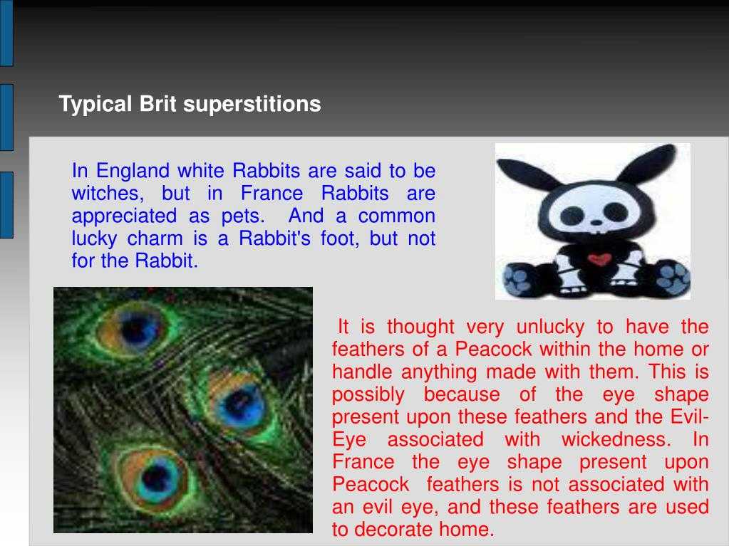 Typical Brit superstitions
