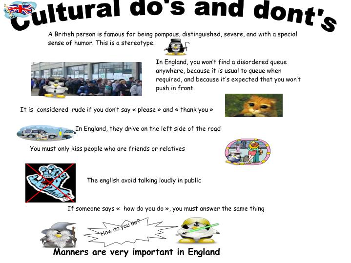 Cultural do's and dont's
