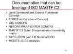 documentation that can be leveraged iso magtf c2