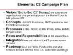 elements c2 campaign plan