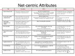 net centric attributes