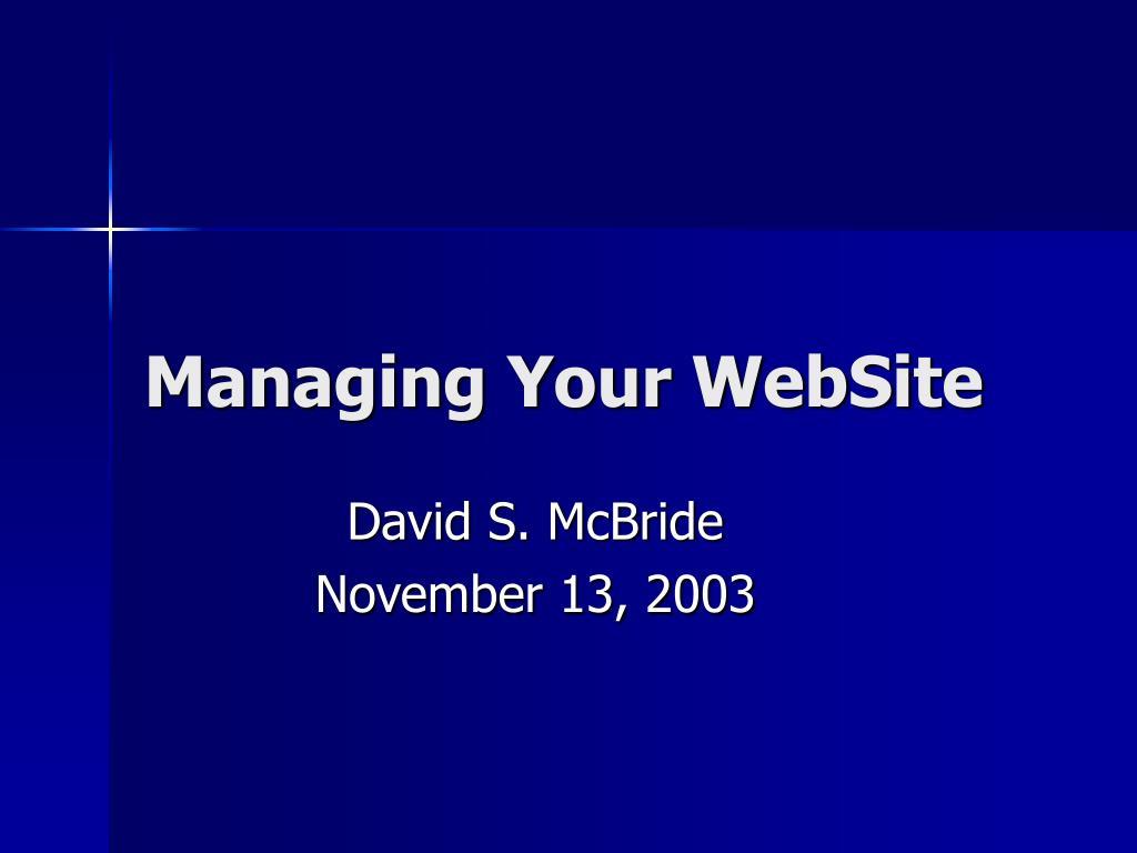 managing your website l.