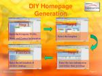 diy homepage generation