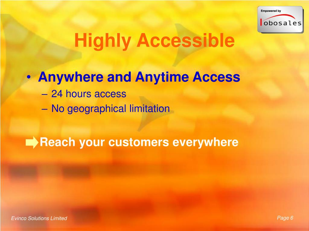 Highly Accessible