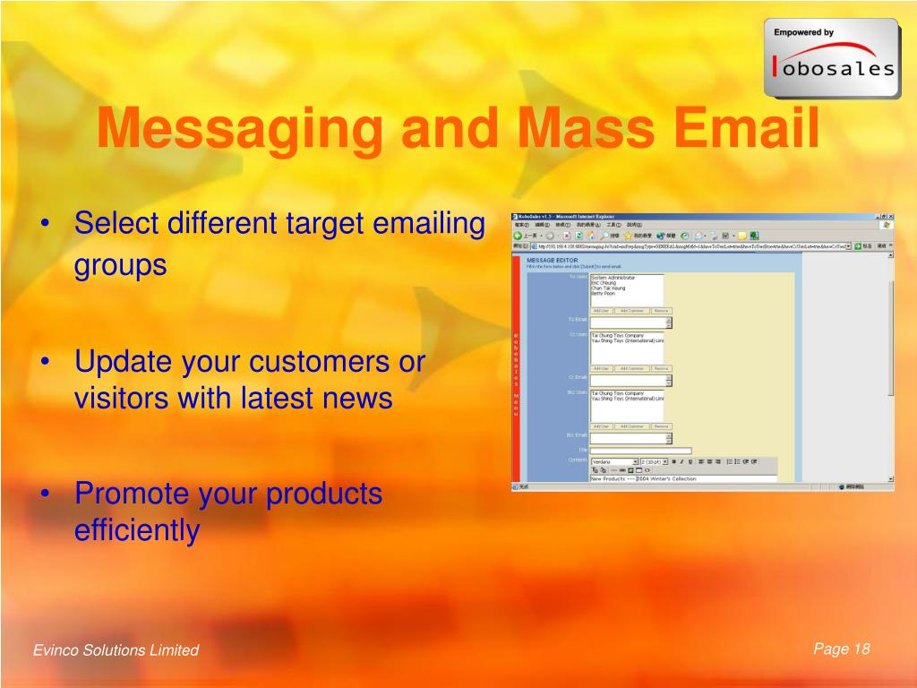 Messaging and Mass Email