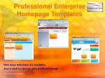professional enterprise homepage templates