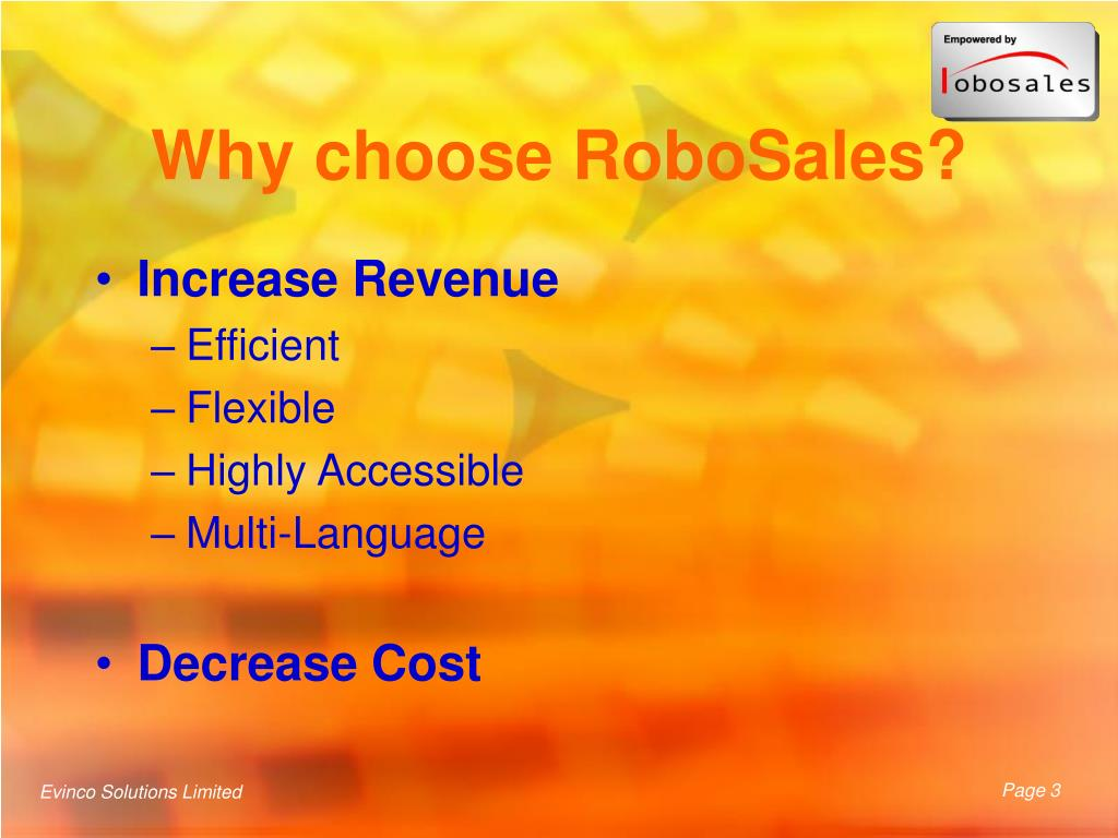 Why choose RoboSales?