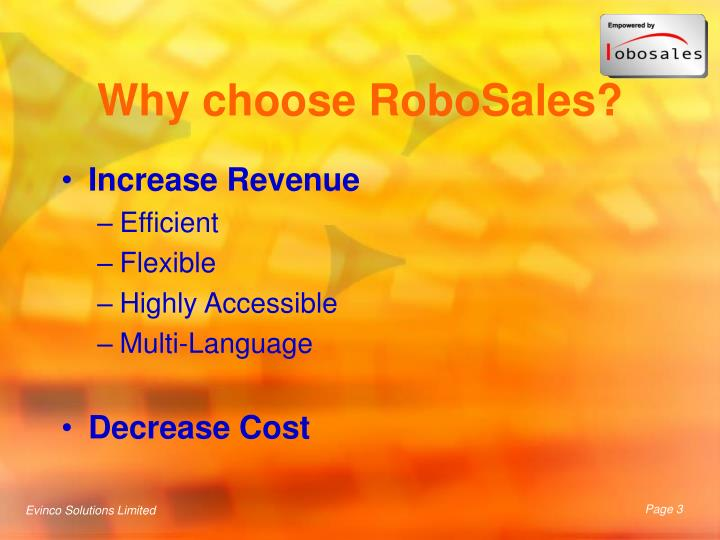 Why choose robosales