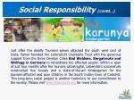 social responsibility contd