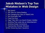 jakob nielsen s top ten mistakes in web design