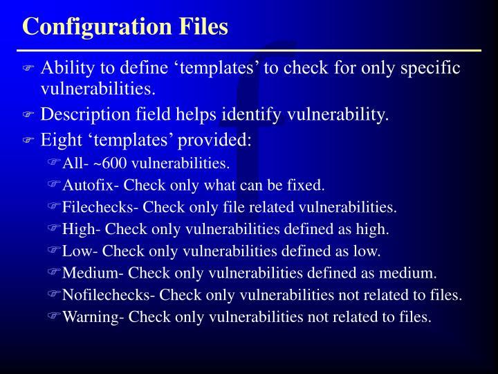 Configuration Files