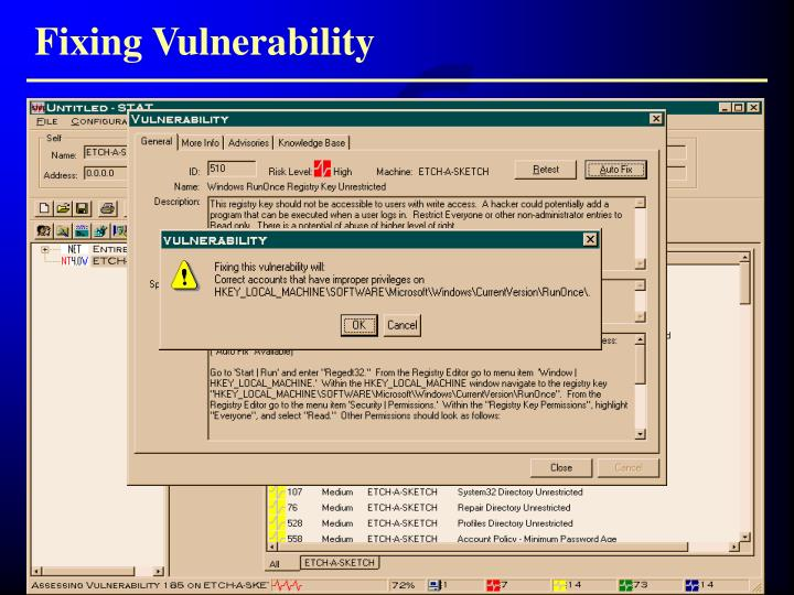 Fixing Vulnerability