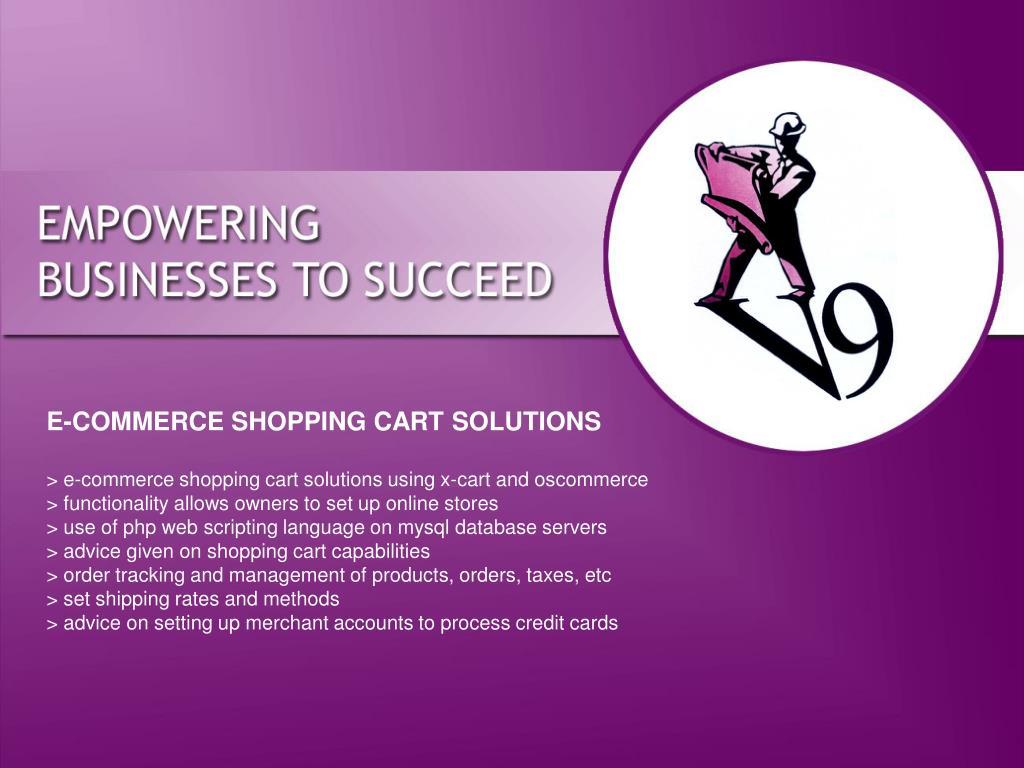 E-COMMERCE SHOPPING CART SOLUTIONS