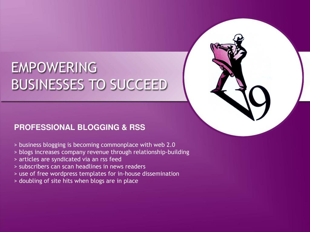 PROFESSIONAL BLOGGING & RSS