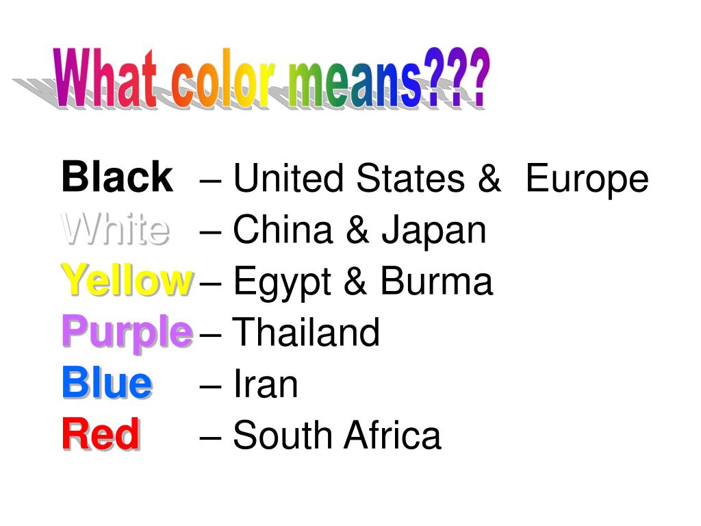 What color means???