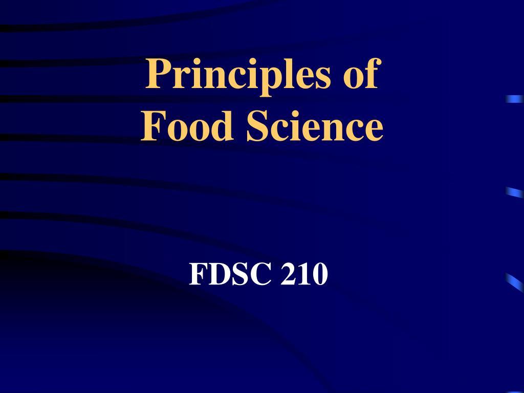 principles of food science l.