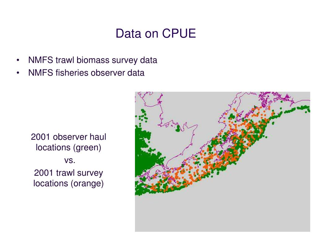 Data on CPUE