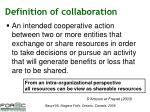 definition of collaboration