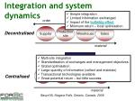 integration and system dynamics