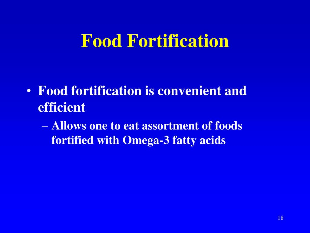 Food Fortification