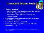 greenland eskimo study