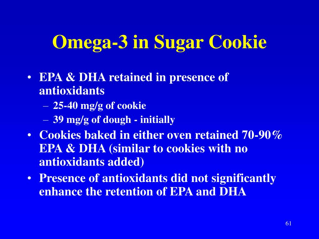 Omega-3 in Sugar Cookie