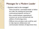 messages for a modern leader31