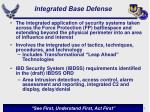 integrated base defense
