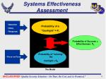 systems effectiveness assessment
