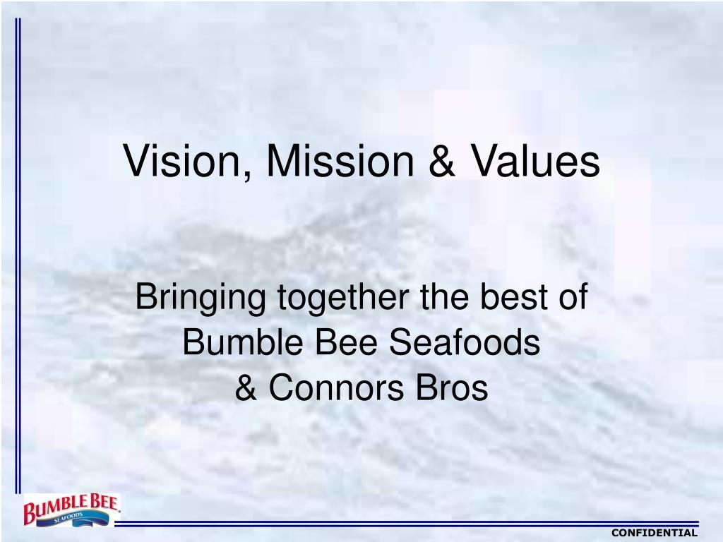 vision mission values l.