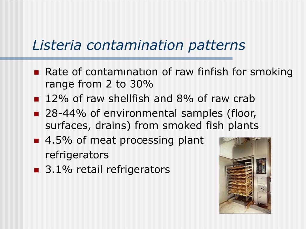 Listeria contamination patterns