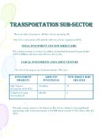 transportation sub sector