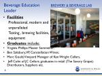 beverage education brewery beverage lab leader