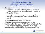 johnson wales as the beverage education leader