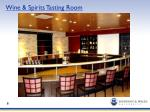 wine spirits tasting room