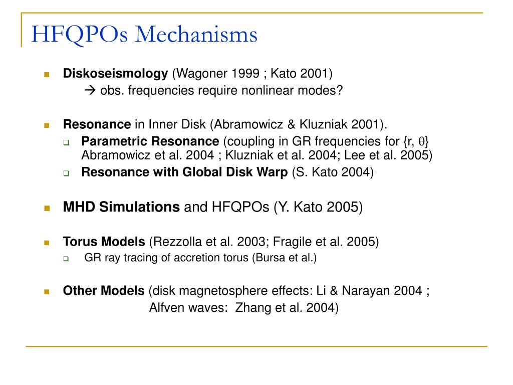 HFQPOs Mechanisms
