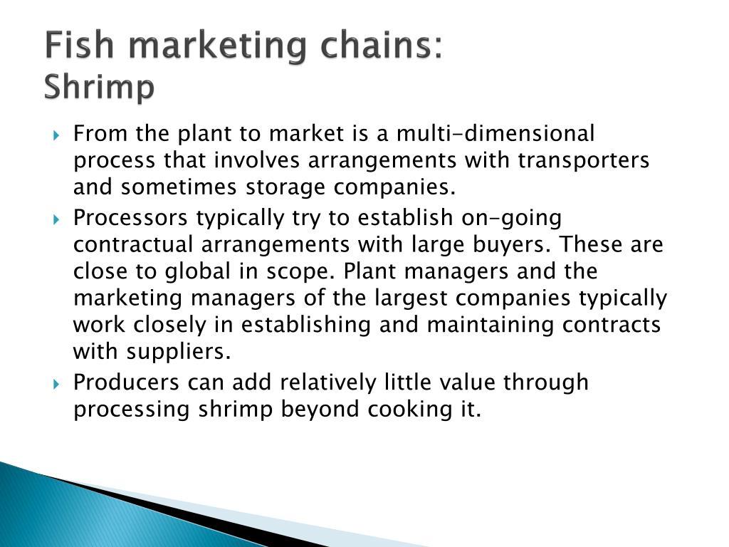 Fish marketing chains: