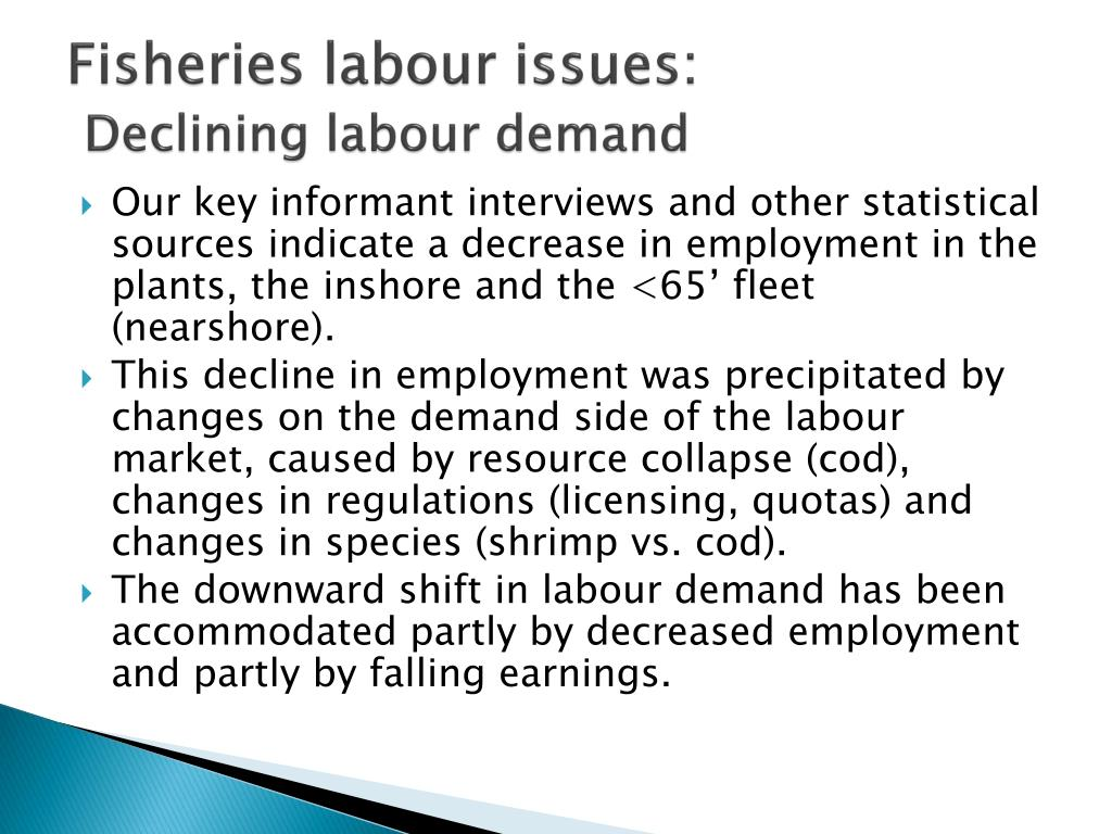 Fisheries labour issues: