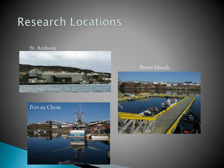 Research locations