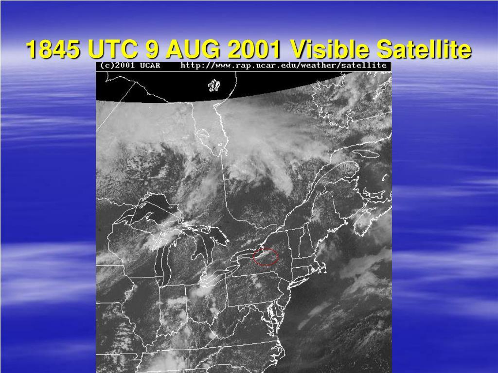 1845 UTC 9 AUG 2001 Visible Satellite