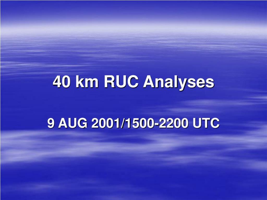 40 km RUC Analyses